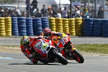 MotoGP - Rad an Rad in der Schlussphase: Marquez vs. Iannone: Hitziges Duell in Le Mans