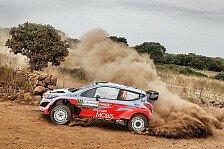 WRC - Materialschlacht am Marathon-Tag auf Sardinien