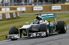 Formel 1 - Video: Nico Rosberg mit altem F1-Mercedes in Goodwood