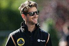 Formel 1 - Grosjean trotz ungewisser Lotus-Zukunft locker