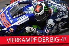 MotoGP - Video: MSM TV: MotoGP-Vierkampf der Big-4 in Silverstone