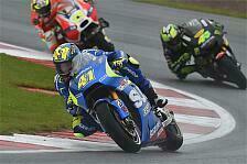 MotoGP - Suzuki-Elektronik arbeitet im Nassen schlecht
