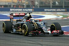 Formel 1 - Fehlender Grip gr��tes Problem: Lotus: Grosjean in Top 10, Maldonado in Q1 raus