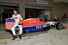 Formel 1 - Speziallack f�rs Heimrennen: Local Hero Rossi: Manor im Stars-and-Stripes-Look