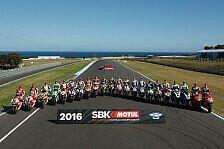 Superbike - Übersicht: Fahrer und Teams der Superbike-WM 2017