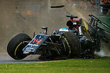 Formel 1 - Neue Power Unit im Alonso-McLaren: McLaren in Bahrain: Bangen um Crash-Pilot Alonso