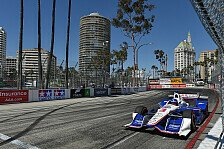 IndyCar - Rote Flagge durch Power beendet IndyCar-Qualifying: Quali-Chaos: Castroneves holt Pole in Long Beach