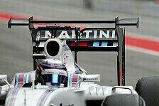 Formel 1 - Williams testet Doppeldecker-Flügel für 2017