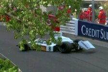 Formel 1 - Video: Kran crasht McLaren - kurioser Unfall in Monaco