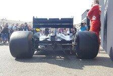 Formel 1 - Erste Bilder! Pirelli zeigt breite Reifen