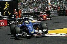 Formel 1 - Ericsson: Nasr ließ mich einfach nicht vorbei