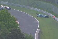 24 h Nürburgring - Video: Porsche überschlägt sich nach Kollision