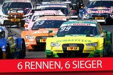 DTM - 6 Rennen - 6 Sieger: Das sind die Folgen