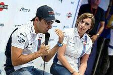 Reaktionen zum Rücktritt von Williams-Pilot Felipe Massa aus der Formel 1