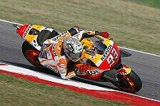 Marquez Schnellster vor Lorenzo, Rossi mit beträchtlichem Rückstand