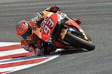 Marquez im Warm-Up in Misano trotz Sturz Schnellster, Rossi nur knapp dahinter