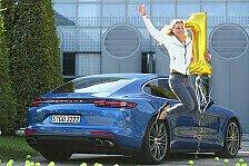 Auto - US-Open-Siegerin Kerber und der Porsche Panamera Turbo