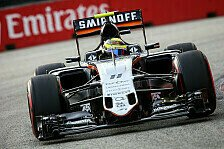 Formel 1 - Stewards bestrafen Perez hart: Williams vs. Force India: Perez droht Gelb-�rger