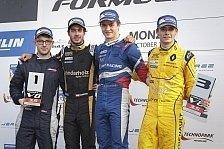 Rene Binder in Monza wieder zurück am Siegespodest