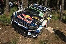 Heftiger Unfall von Andreas Mikkelsen bei der Rallye Spanien