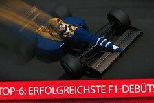 Top-6: Die erfolgreichsten Formel-1-Debüts