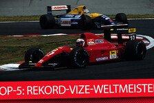 Top-5: Die häufigsten Vize-Weltmeister der F1