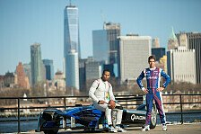 Formel E - New York Giants-Spieler Cruz im Formel-E-Auto