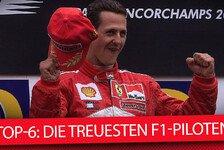 Top-6: Die treuesten F1-Piloten