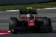 Am zweiten Tag der Formel-2-Testfahrten fuhr Alexander Albon Bestzeit