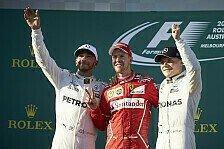 Australien GP Formel 1: Die wichtigsten Statistiken zum Rennen