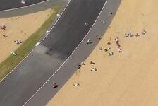Massensturz: Das halbe Moto3-Feld geht zu Boden
