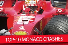Formel 1 - Video: Top-10 Monaco Crashes