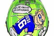Valentino Rossi ehrt mit Mugello-Helm Francesco Totti und Nicky Hayden