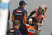 Darum ging Repsol-Honda-Pilot Dani Pedrosa beim kühlen Assen-GP unter