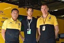 Rene Binder: Formel-1-Test mit Renault