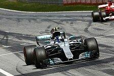Österreich GP: Mercedes-Pilot Bottas rettet Sieg gegen Ferraris Vettel