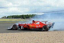 1. Training in Silverstone: Vettel mit Shield und Highspeed-Abflug