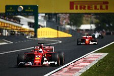 Nervenschlacht in Ungarn: Ferrari rettet Vettel Sieg vor Räikkönen