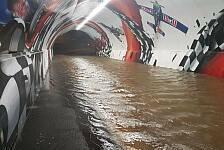 Schwere Unwetter in Spielberg: Red-Bull-Ring überflutet