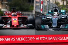 Formel 1 - Rote Göttin vs. Silberne Diva: Ferrari vs. Mercedes: Boliden-Check im Video