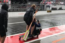 Regen-Chaos in Monza: Hamilton zockt Playstation
