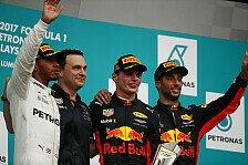 Formel 1 - Bilder: Malaysia GP - Podium