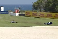 Maverick Vinales: Highspeed-Crash in FP2 von Phillip Island