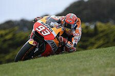 MotoGP Phillip Island 2017: Marc Marquez toppt Warm-Up