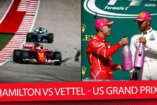 Formel 1 - Video: Hamilton vs. Vettel: So lief das Formel 1-Duell in Austin 2017