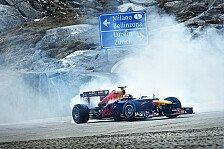 Formel 1 - Sebastien Buemi im Red Bull-Weltmeisterauto RB8 auf Alpenpass