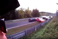 Nürburgring-Unfall: Video zeigt Massen-Crash auf Nordschleife