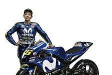MotoGP - Yamaha: Rossi und Vinales in den Farben für die MotoGP 2018