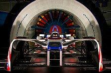 Formel E - Formel-E-Auto im schönsten Windkanal der Welt