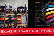Formel 1 - Video: Formel 1 2018: So funktioniert die Reifenwahl für die Rennen